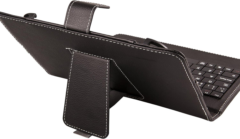 SilverHT - Funda universal con teclado para tablet de 9 - 10.1, color negro