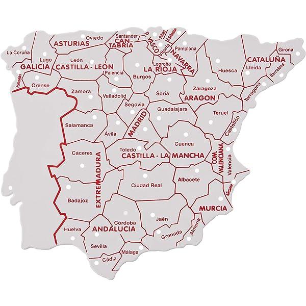 Faibo - Bolsa con 3 Plantillas, mapas España 15 x 12 cm (250): Amazon.es: Juguetes y juegos