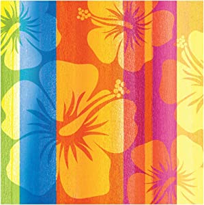 Creative Converting 652314 16 Count Paper Beverage Napkins, Sunset Stripes