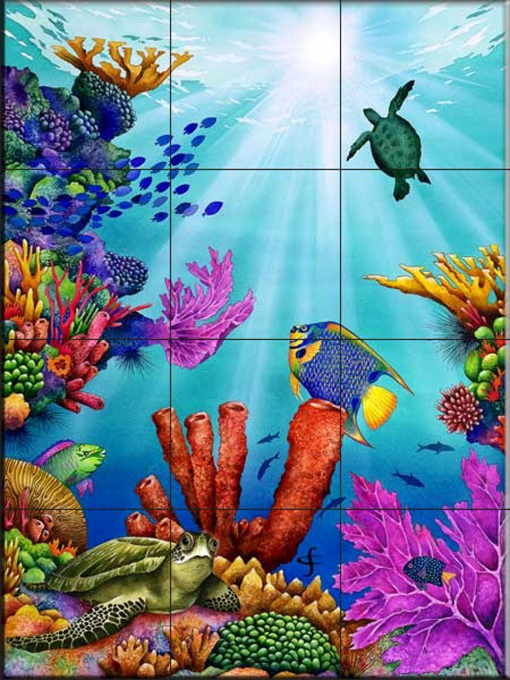 Ceramic Tile Mural - High Noon - by Carolyn Steele - Kitchen backsplash/Bathroom Shower