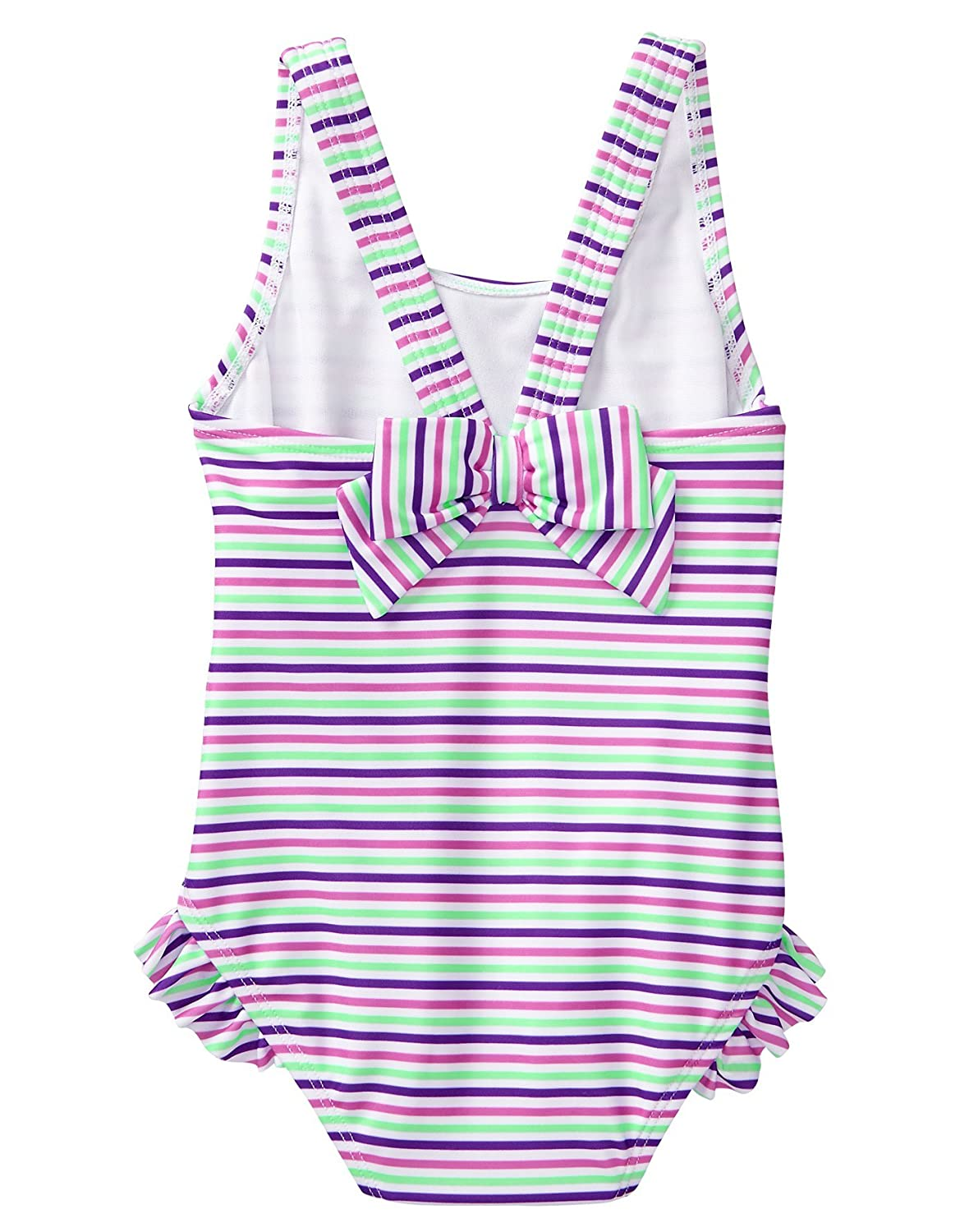 Gymboree Baby Girls 1-Piece Swimsuit with Bow Accent