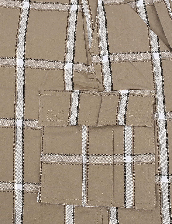Sizes S-5XL Shaka Wear Plaid Cargo Shorts for Men