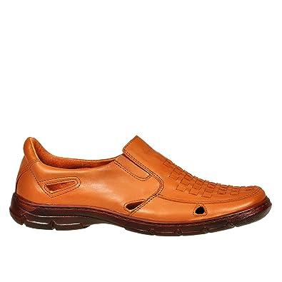 Lukpol Herren Sandalen Schuhe Aus Buffelleder mit Orthopadischen Einlage Modell-1060