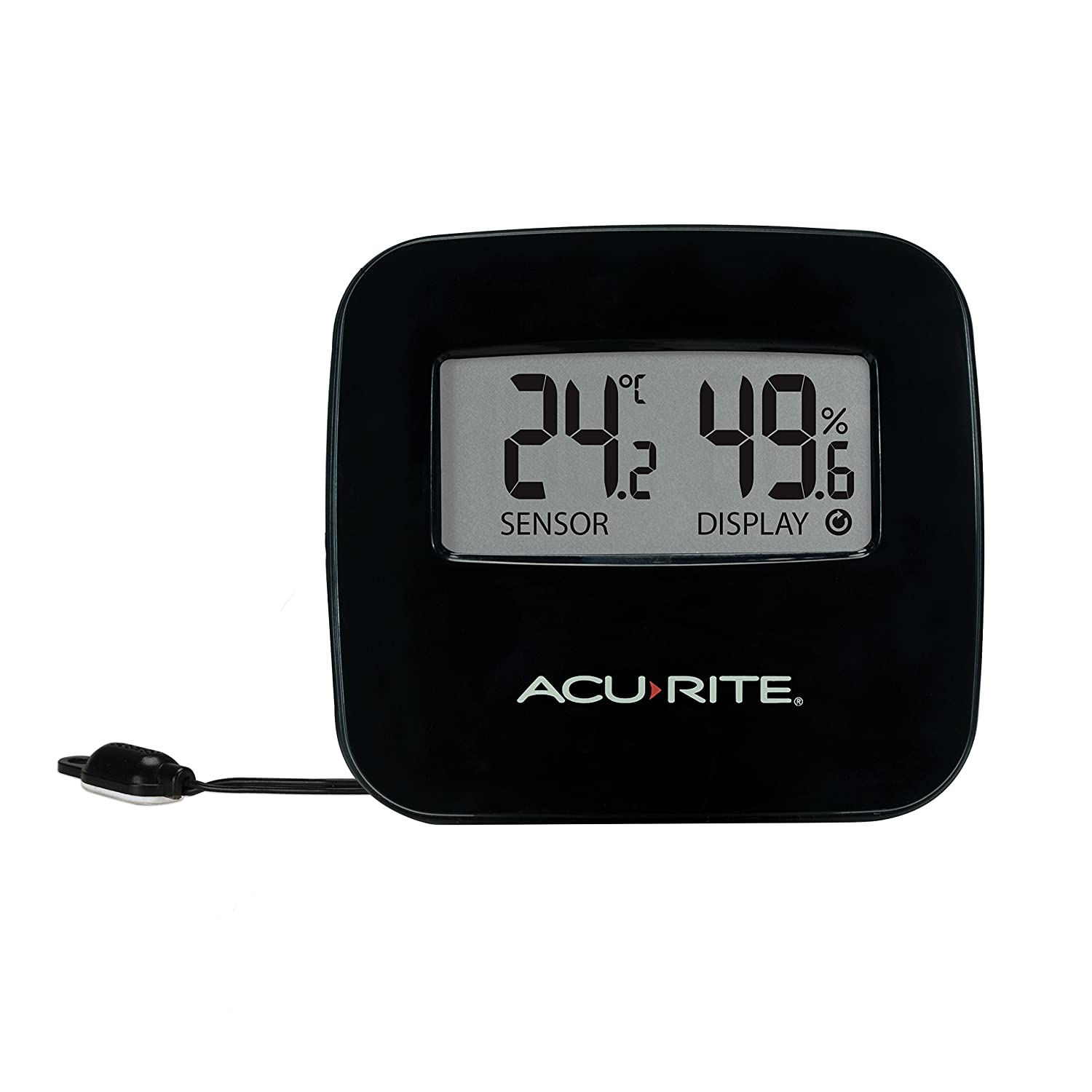 AcuRite 77006EM Digital Thermometer with Humidity & Wired Temperature Sensor