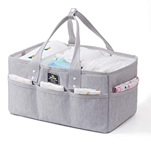 SUNVENO Baby Diaper Caddy Organizer, Large Baby Organizers and Storage for Nursery - Portable Diaper Basket for Changing Station - Fits Changing Table - Baby Registry Gift