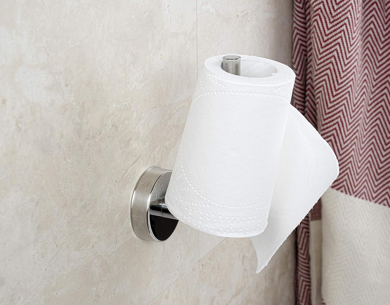 Kapitan Toilettenpapierhalter Vertikal WC Ersatzrollenhalter Klopapierhalter Poliert Edelstahl 3M VHB Klebeband Wandmontage Selbstklebend Ohne Bohren Made in der EU