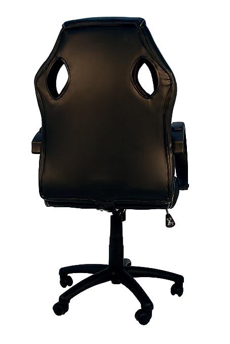 La Silla Española Madrid Silla de Oficina, Piel Sintética, Negro, 66x62x120 cm: Amazon.es: Hogar