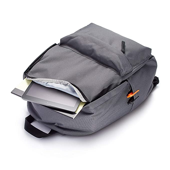 QIPS by HMI 21 ltrs 16 Inch Classic Laptop Backpack with YKK Zippers, Grey
