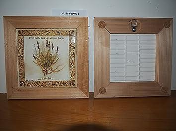 Sottopentola in ceramica e legno di cedro naturale da tavolo e da