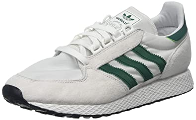 buy popular d5dc7 e1f84 adidas Mens Forest Grove Gymnastics Shoes, Beige Crystal WhiteCollegiate  GreenCore Black