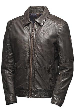 Pierre Cardin Napa-chaqueta de cuero/cazadora: Amazon.es: Ropa y accesorios