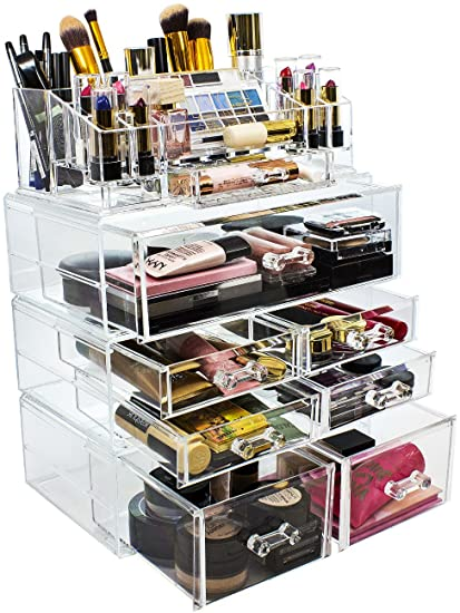 Sorbus Acrylic Cosmetics Makeup And Jewelry Storage Case Display Sets U2013  Interlocking Drawers To Create Your