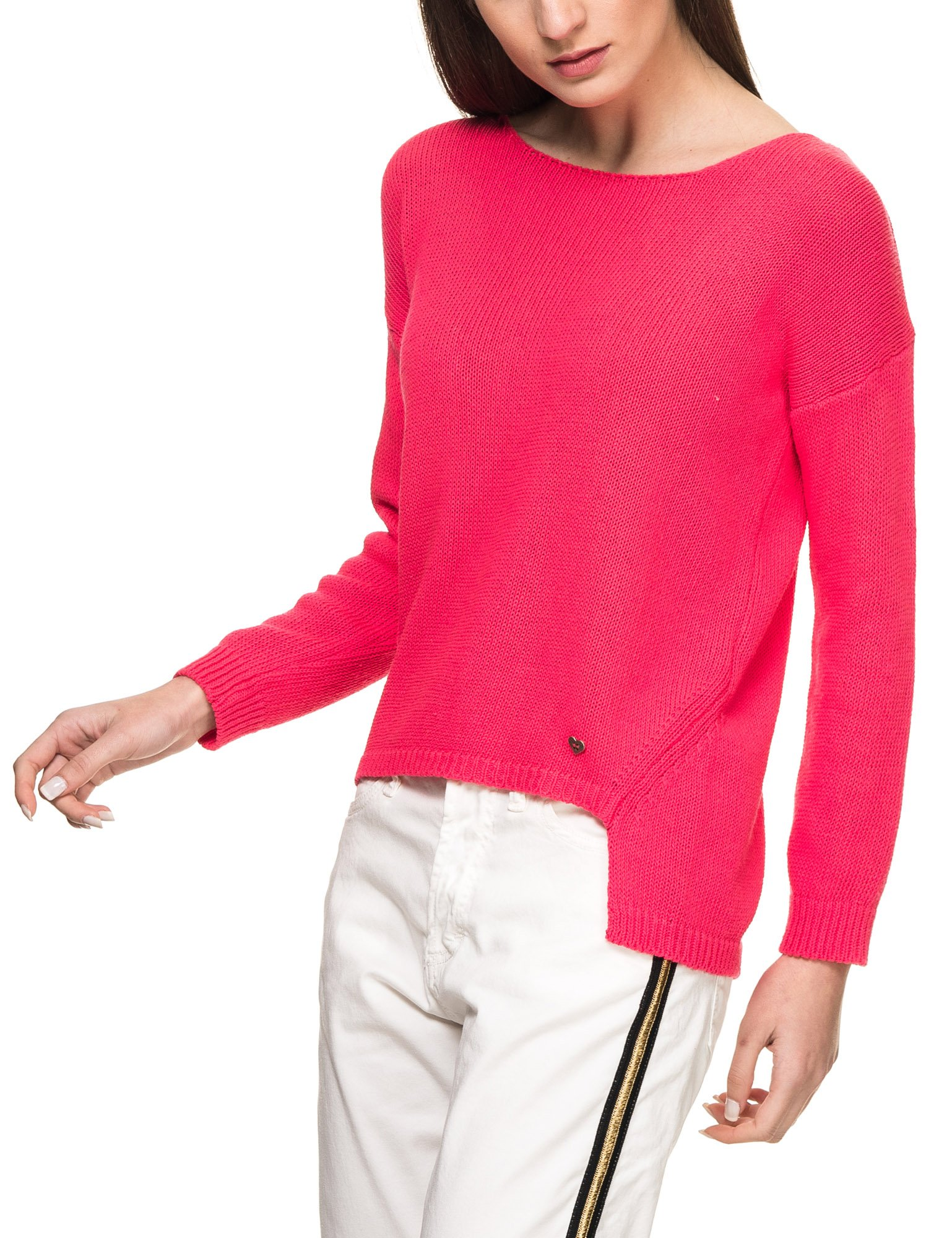 PLEASE Women's Women's Fuchsia Knit Jumper Pink