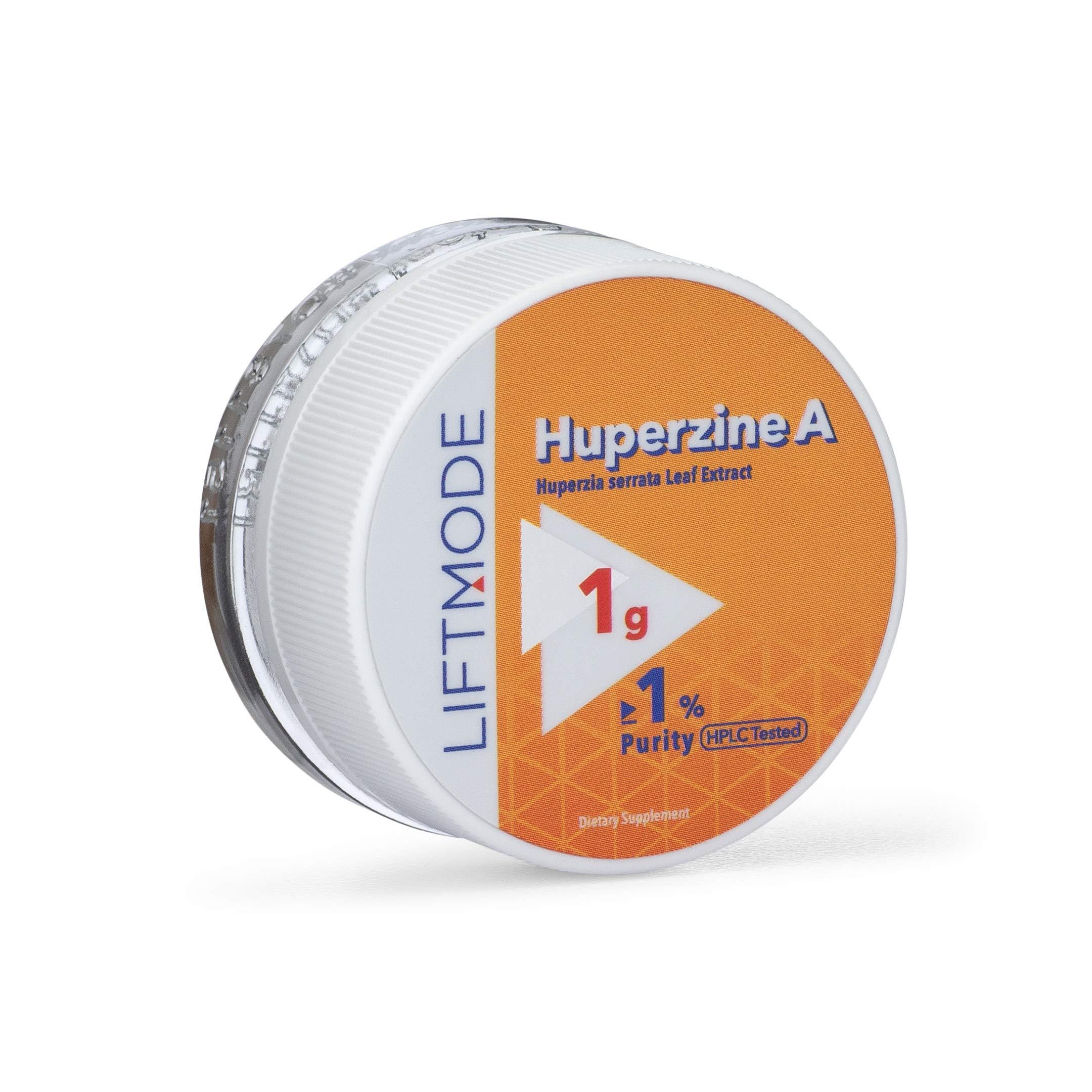 LiftMode Huperzine A Powder Supplement - Supports Focus & Cognition, Enhances Memory & Learning Ability, Huperzia Serrata Extract | Vegetarian, Vegan, Non-GMO, Gluten Free - 1 Gram (50 Servings)