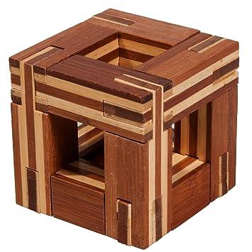 Fridolin IQ Test Bambus Puzzle Knobel Spiel 3D Magische Box Spiele