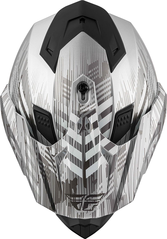 Small Quantum Matte Black//Grey//RED Fly Racing 2020 Trekker Helmet