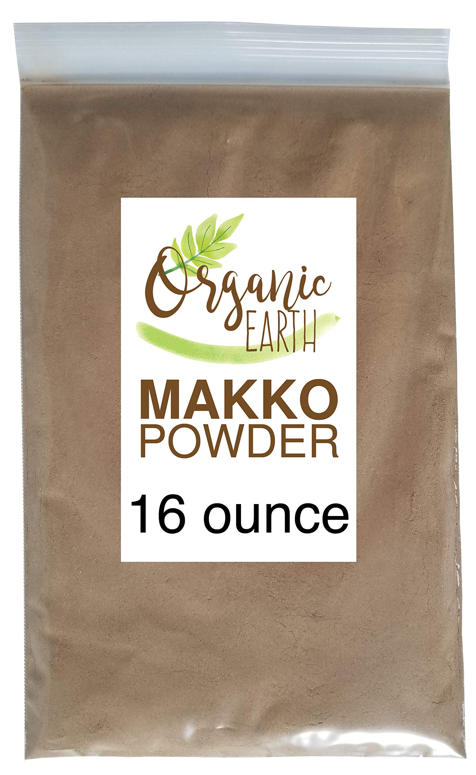 Organic Earth Makko Powder - High Grade Premium Incense for Making Cones and Coil Incense DIY Gift 500 Grams (16 Ounce)
