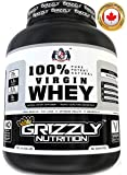 Grizzly Nutrition 100% Virgin Whey Protein With Digestive Enzymes - 6.61Lbs - 3Kg Natural Whey Unflavored