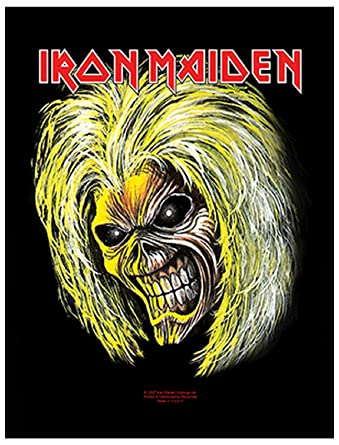 Iron Maiden Back Patch Killers Eddie Head Band Logo Official 36Cm X 29Cm