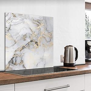 artgeist Tempered Glass Backsplash for Kitchen Splashback Printed Toughened Glass Cooker Protector Heat Resistant Decorative Wall Panel 60x60cm / 23.6 x 23.6