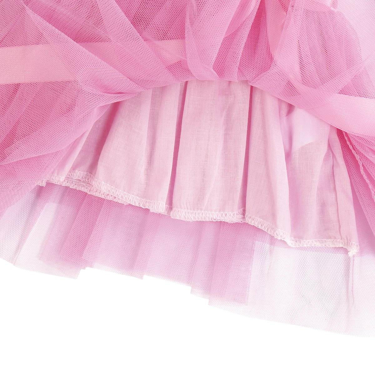ODASDO Baby Girl 1st 2nd 3rd Birthday Striped Long Sleeve Tutu Tulle Princess Dress Party Cake Smash Outfit Clothes