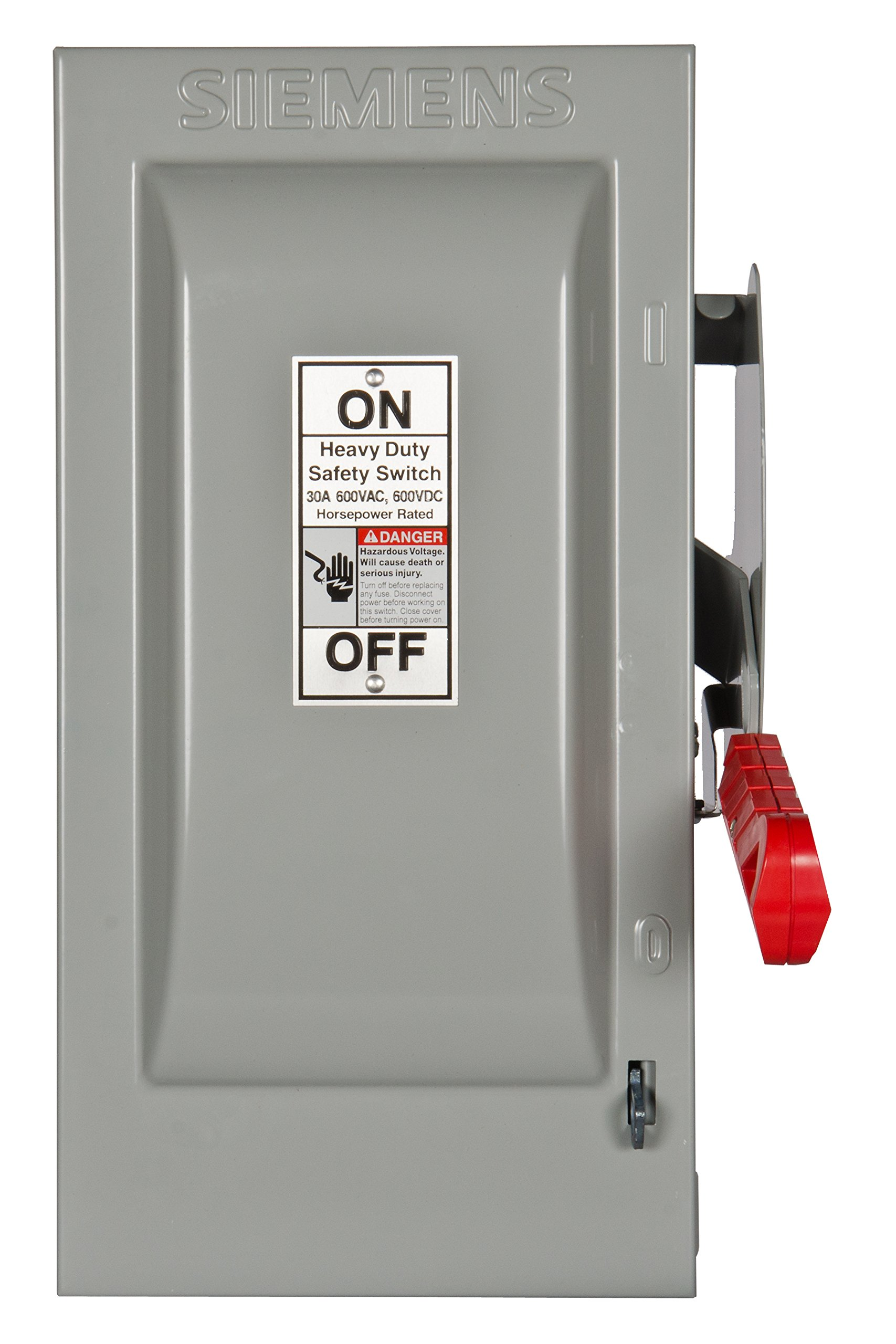 Siemens HF261 30-Amp 2 Pole 600-volt 2W Fused Heavy Duty Safety Switches