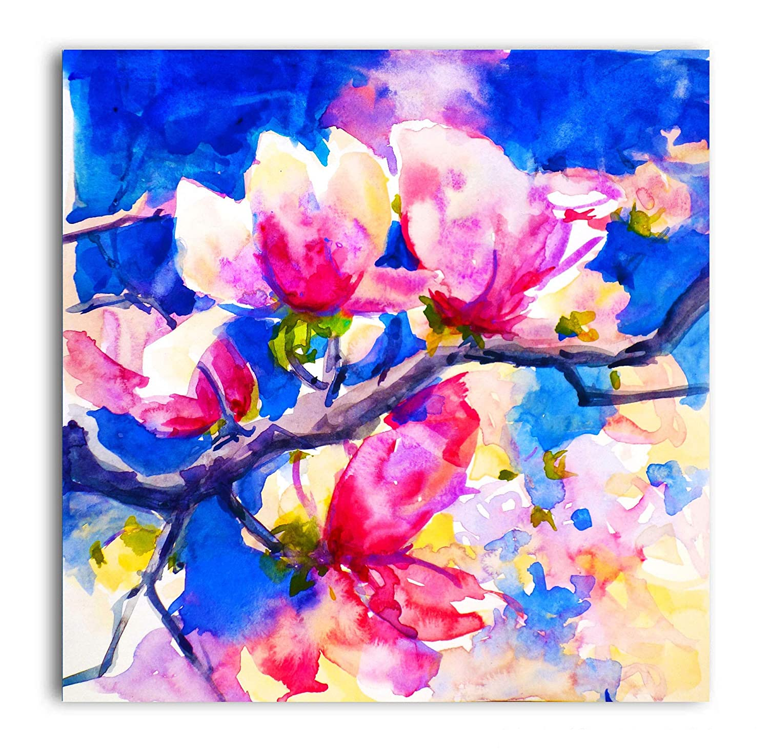 Tamatina Canvas Paintings Pretty Pink Flowers Nature Canvas Art