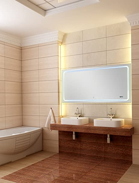 Specchio Bagno 120 X 60.Blueline Twin Bagno Specchio 120 X 60 Cm Con Altoparlante