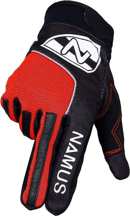 Namus Guantes Moto Para Hombre y Mujer, Guantes Motocross, Guantes Todoterreno, guantes deportivos con dedos completos, Pantalla táctil completa, ...
