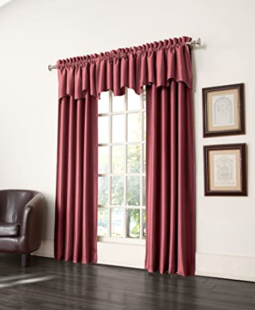 Sun Zero Antique Satin Room Darkening Curtain Panel 50 By 63 Inch Cayenne