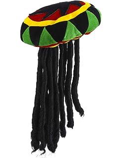 f9a1fd4792 Bonnet rasta avec dreadlocks déguisement Perruque Rasta avec Bonnet ...