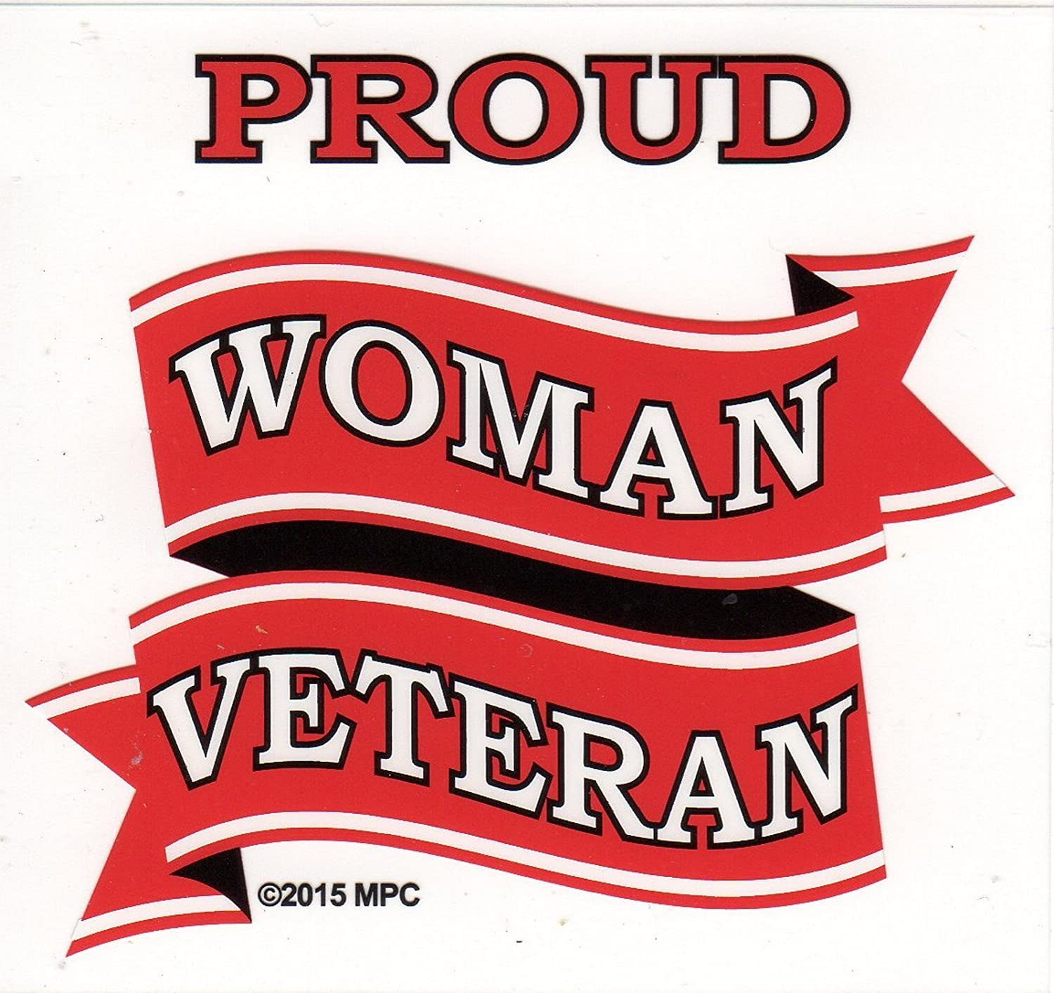 None Proud Woman Veteran Decal