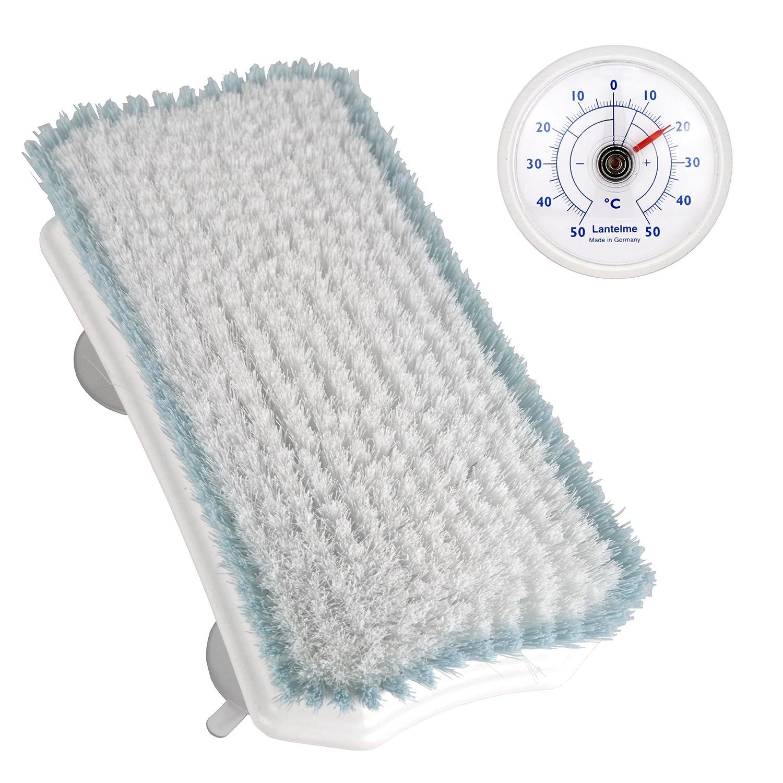 Rückenwascher mit Saugnäpfen . Rückenbürste mit Nylon Borsten. Die Ideale und schonende Rücken Wäsche und universal Thermometer (SB1117N) Lantelme