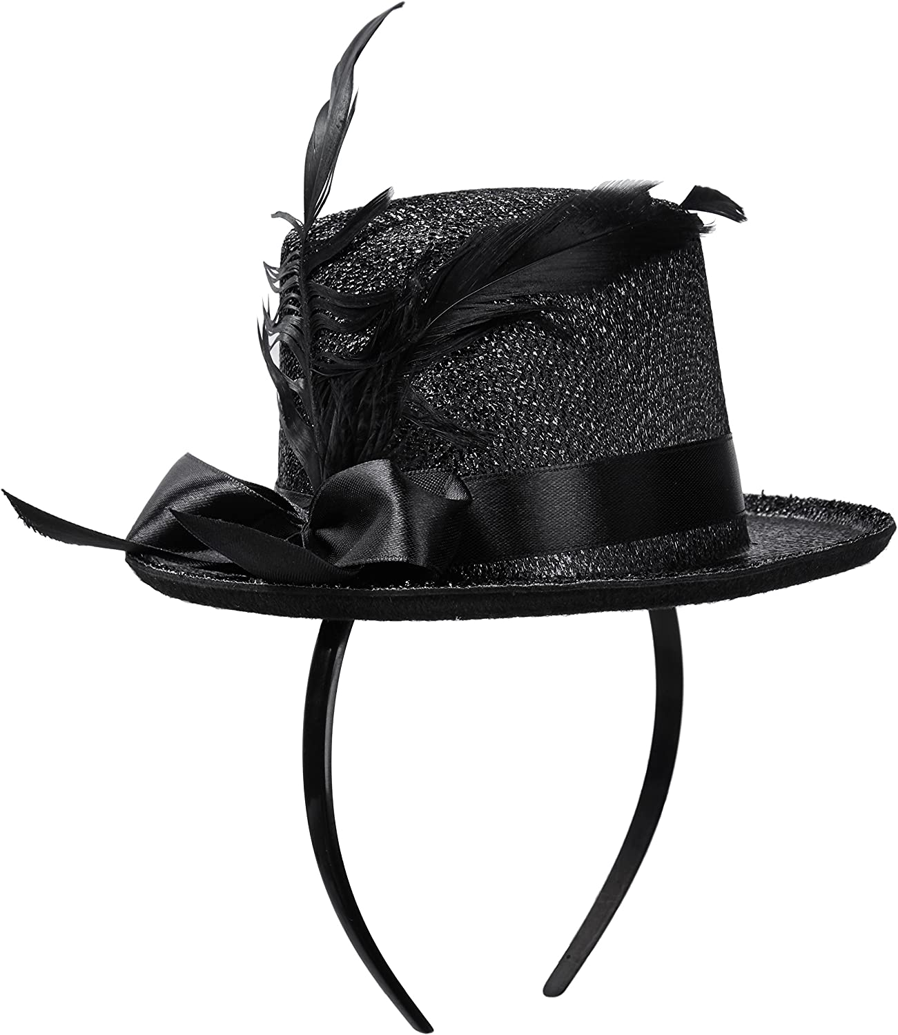Jacobson Hat Company Women's Adult Mini Glitter Top Hat Headband