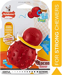 Nylabone Stuffable Chew Toy - Strong Rubber Dog Toy