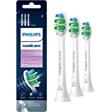 Genuine Philips Sonicare Intercare replacement toothbrush heads, HX9003/65, BrushSync technology, White 3-pk