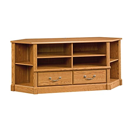 Sauder 403818 Orchard Hills Corner Entertainment Credenza, For TV s up to 50 , Carolina Oak finish