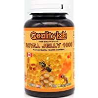 QualityLab Royal Jelly 1000 mg 100 softgel Capsules (Made in Canada)