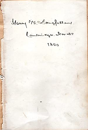 henry wadsworth longfellow poet real hand signed book page dated 1860 cambridge
