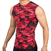 DRSKIN Undershirts Running Shirt Tank Tops Men's Cool Dry Compression Baselayer Sleeveless