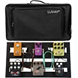 "Luvay Guitar Pedal Board - Extra Large (22"" x 12.6"") with Bag, Aluminum Alloy 7LB Pedalboard"