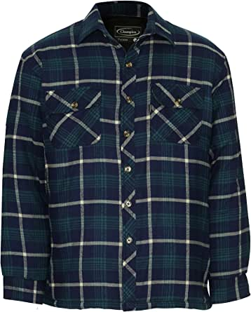 Champion Mens Totnes Padded Quilted Lining Winter Shirt (L) Blue: Amazon.es: Ropa y accesorios