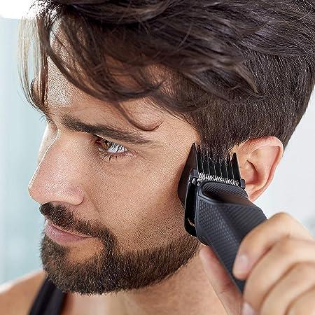 Philips MG5720/18 Recortadora para barba y pelo,  9 en 1, accesorios para nariz y orejas, cortapelos cara, y cabeza, 80 minutos de autonomía,Negro