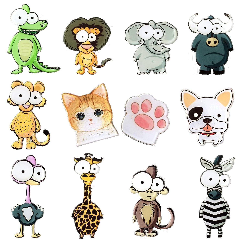 Amazon Com Big Eyes Animals Fridge Magnets 12 Pack Refrigerator