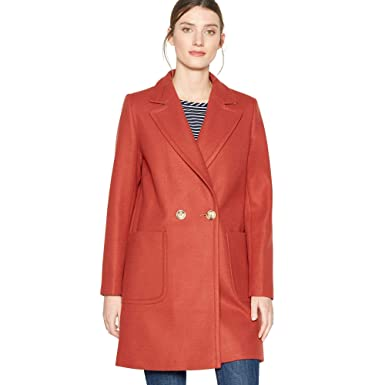 71c746b357a Debenhams The Collection Womens Terracotta Double Breasted Coat Red  The  Collection  Amazon.co.uk  Clothing