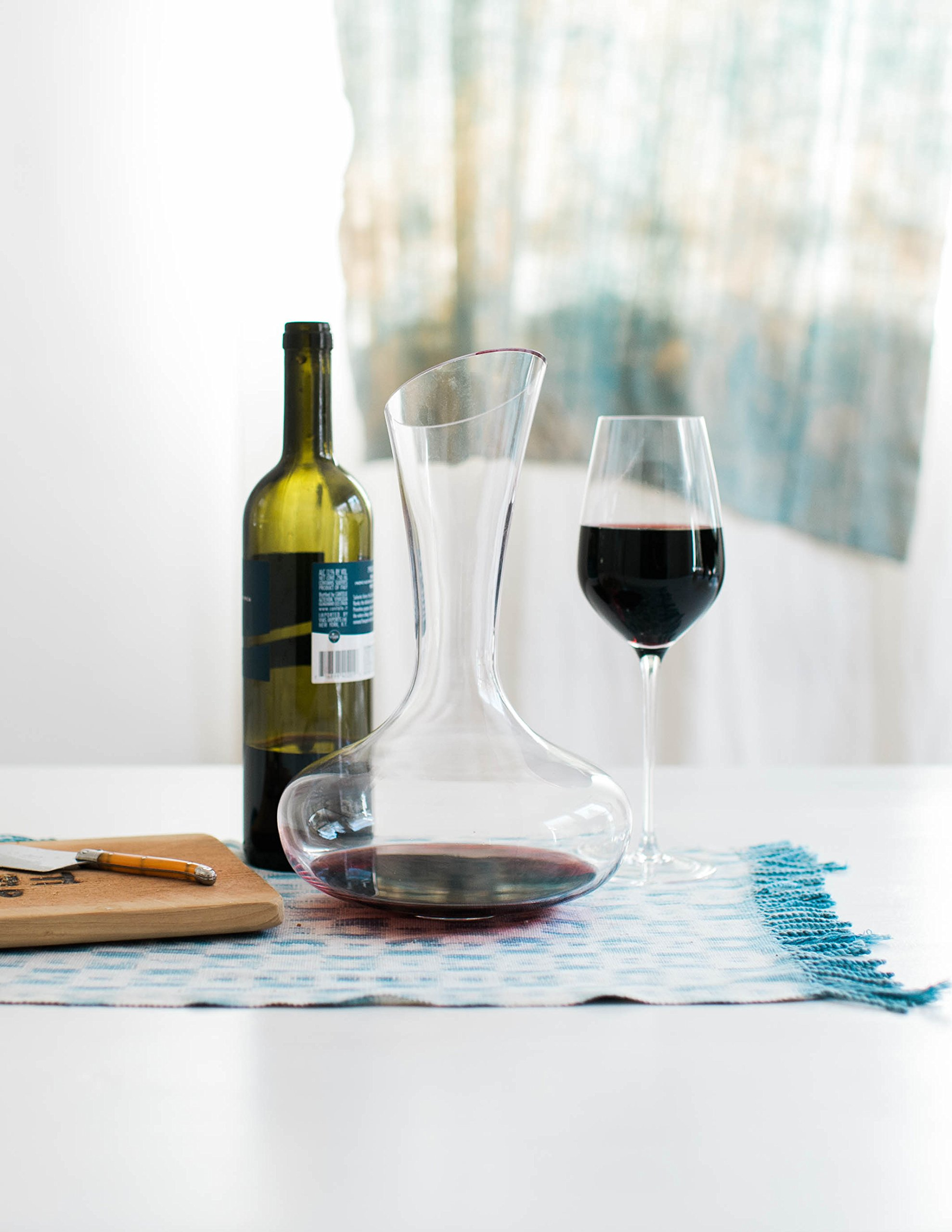 Wine Decanter by Aria - All Hand Blown Lead Free Crystal Glass with a Perfect Pour Spout by Aria (Image #7)