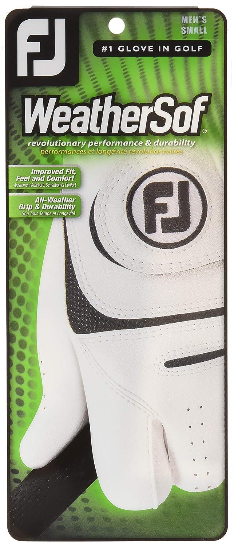 FootJoy WeatherSofゴルフグローブ、ホワイト、XL - パック1   B010G0OKF4