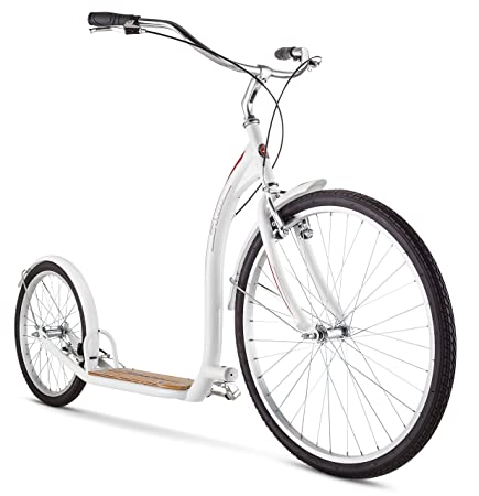 Schwinn Adult Shuffle Scooter with 26' Wheels, White