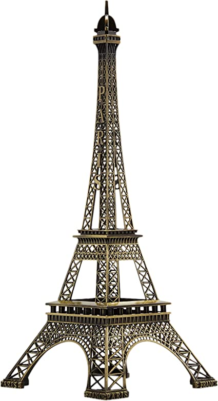 Metal Eiffel Tower Centerpiece Decoration - Black Large, Black Juvale Craft and Party