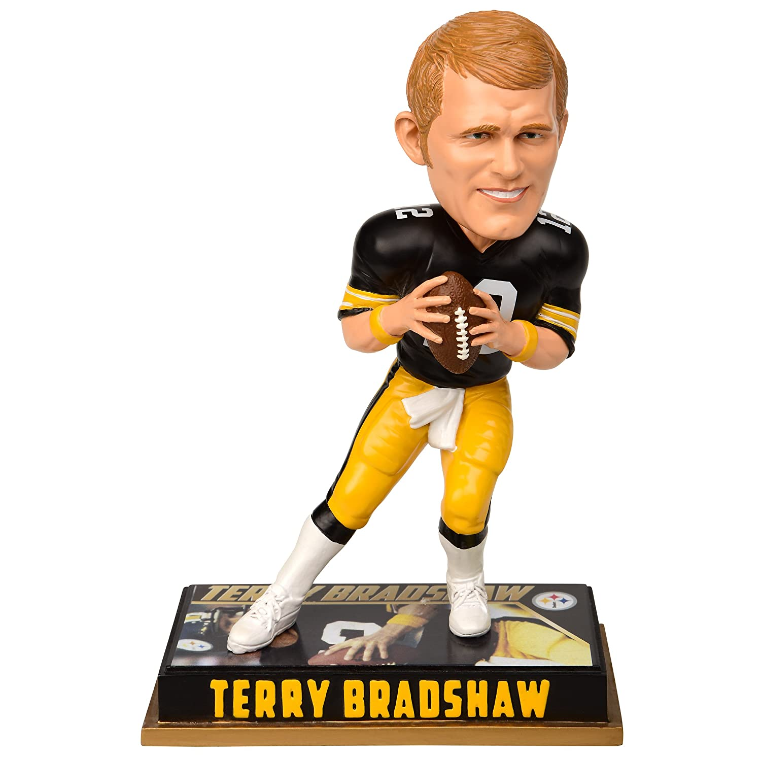 Forever Collectibles Pittsburgh Steelers Bradshaw T. 12 8 Retired Player Bobble, Team Colour, 20cm   B01LYZULSO
